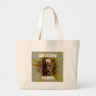 Welcome to Kenya Large Tote Bag