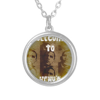 Welcome to Kenya Round Pendant Necklace
