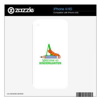 WELCOME TO KINDERGARTEN SKIN FOR THE iPhone 4S