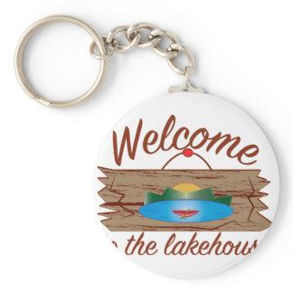 Welcome To Lake House Keychain