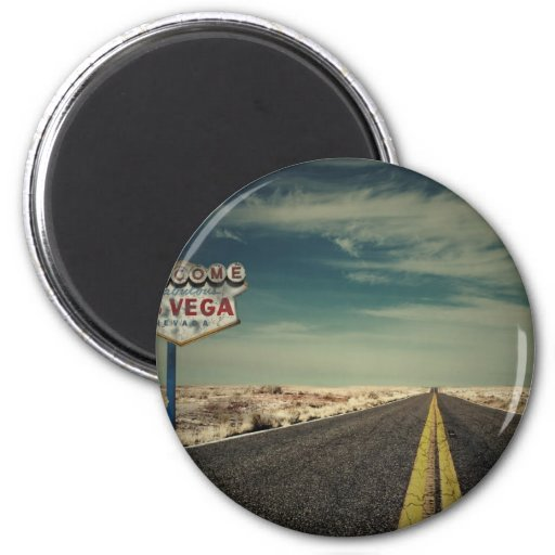Welcome to Las Vegas 2 Inch Round Magnet