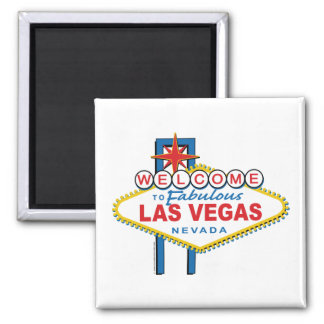 Welcome-to-Las-Vegas 2 Inch Square Magnet