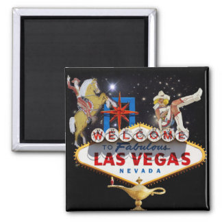 Welcome to Las Vegas 2 Inch Square Magnet
