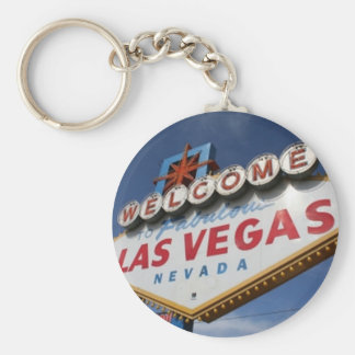 Welcome To Las Vegas Basic Round Button Keychain