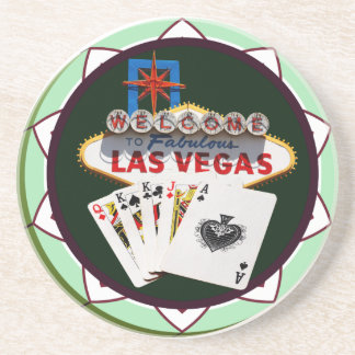 Welcome to Las Vegas Casino Chip Coaster
