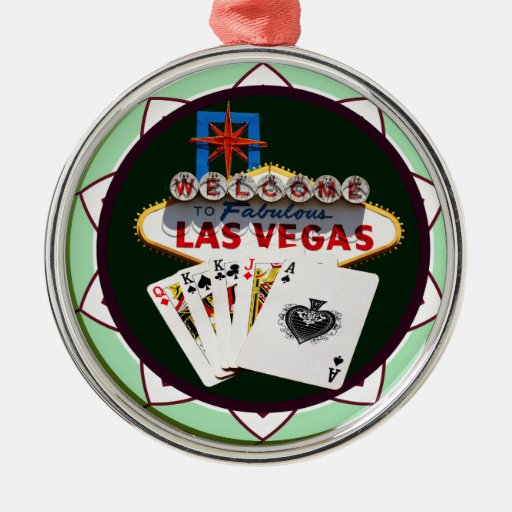 Welcome to Las Vegas Casino Chip Christmas Tree Ornaments
