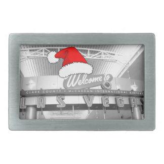 Welcome to Las Vegas Christmas Rectangular Belt Buckle