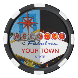 Welcome To Las Vegas - Day Or Night Set Of Poker Chips at Zazzle