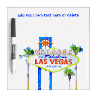 Welcome to Las Vegas Neon Sign Dry-Erase Board