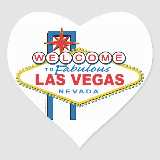 Welcome-to-Las-Vegas Retro Heart Sticker