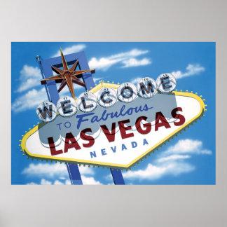 Welcome to Las Vegas Retro Poster Print