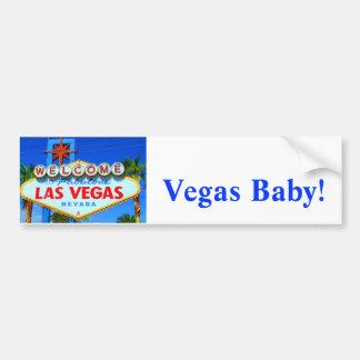 Welcome to Las Vegas Sign Car Bumper Sticker