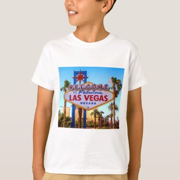 Beach Themed Welcome to Las Vegas Sign Kids T-shirt