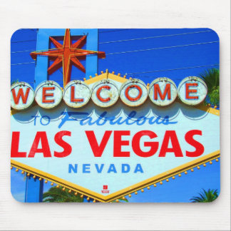 Welcome to Las Vegas Sign Mouse Pad