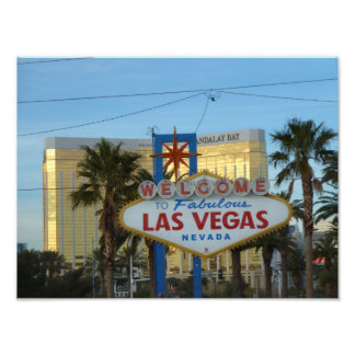 Welcome to Las Vegas Sign Photo Print