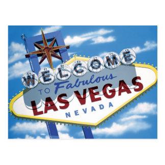 Welcome to Las Vegas Sign Retro Neon Sign Postcard