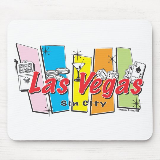 Welcome to Las-Vegas Sin City Mouse Pad