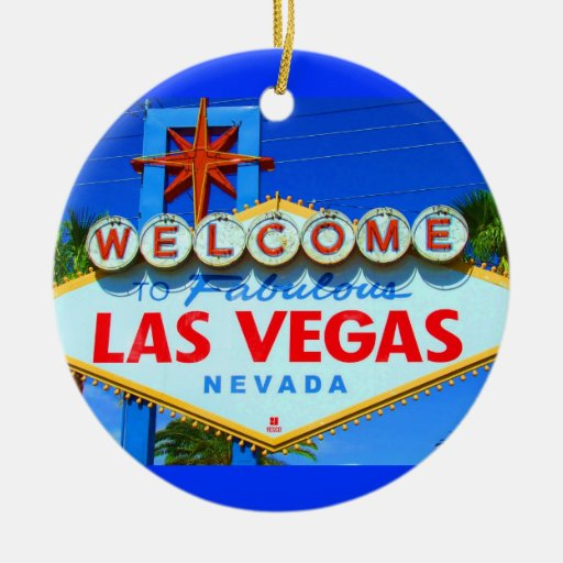 Welcome To Las Vegas Travel Christmas Ornament