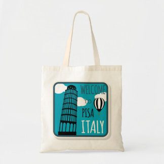 Welcome to Leaning Tower Pisa Italy Tote Bag
