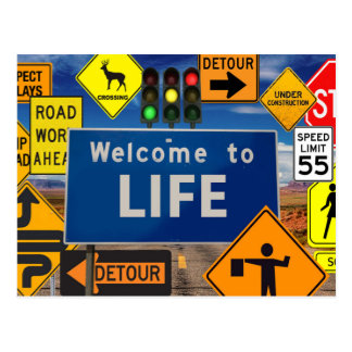 WELCOME TO LIFE POSTCARD