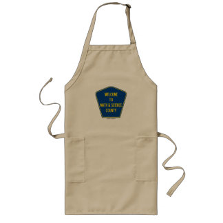 Welcome To Math & Science County (County Sign) Long Apron
