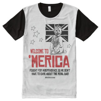 Welcome to Merica - Don't have to care about the R All-Over Print T-shirt