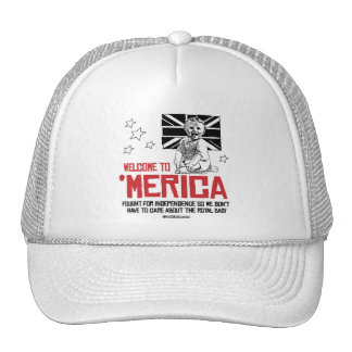 Welcome to Merica - Don't have to care Trucker Hat