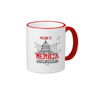 Welcome to Merica - Shut down the government Ringer Coffee Mug