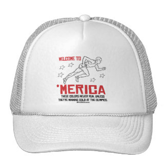 Welcome to Merica - These Colors Never Run Trucker Hat