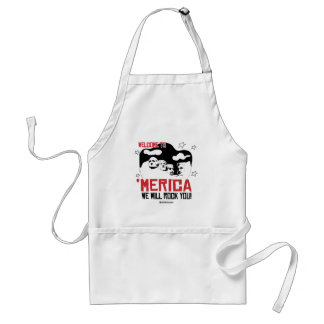 Welcome to Merica - We will Rock You Adult Apron