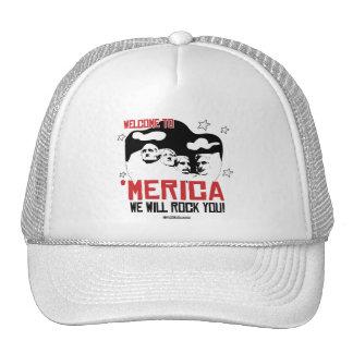 Welcome to Merica - We will Rock You Trucker Hat