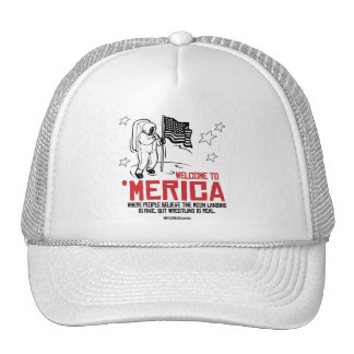 Welcome to Merica - Where the moon landing is fake Trucker Hat
