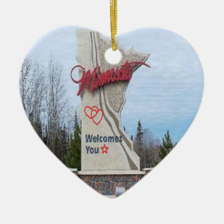 Welcome-to-Minnesota-Wide.png Ceramic Ornament