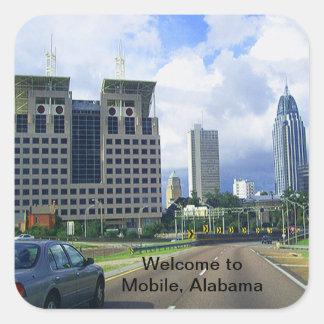 Welcome to Mobile, Alabama Square Sticker
