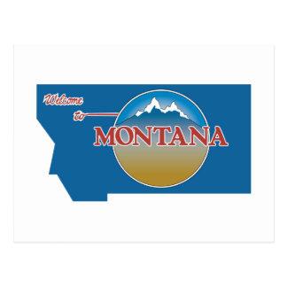 Welcome to Montana - USA Road Sign Postcard