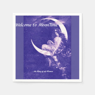 Welcome to MoonTime, purple Napkin