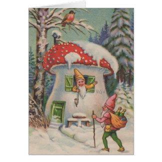 Welcome to Mushroom House Greeting Card