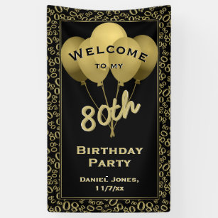 Welcome To My 80th Birthday Party