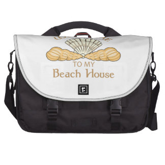 Welcome To My Beach House Laptop Bags
