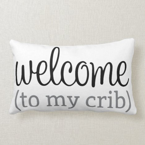 Welcome to my crib pillow