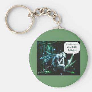 Welcome to My designs Basic Round Button Keychain