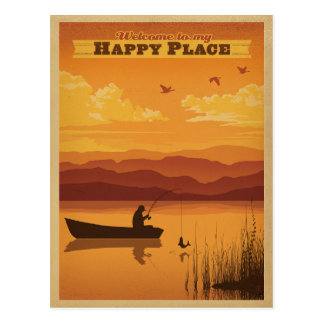 Welcome to my Happy Place Postcard