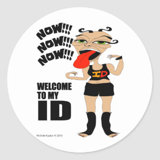Welcome To My ID Classic Round Sticker