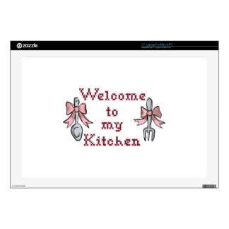 """Welcome To My Kitchen Decal For 17"""" Laptop"""