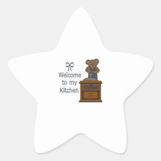 WELCOME TO MY KITCHEN STAR STICKER