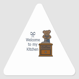 WELCOME TO MY KITCHEN TRIANGLE STICKERS
