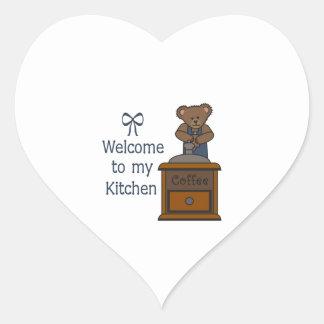 WELCOME TO MY KITCHEN HEART STICKER