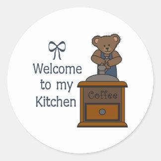 WELCOME TO MY KITCHEN ROUND STICKERS