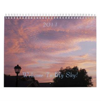 Welcome To My Sky, classic sky shots Calendar