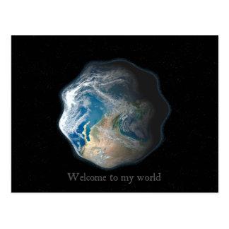 Welcome to my world 2 postcard